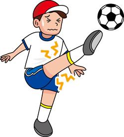 オスグッドシュラッター病とは、膝の前面の「脛骨粗面部(けいこつそめんぶ)」 という軟骨の隆起している部分が太ももの筋肉にひっぱられて障害が起きた状態を言います。